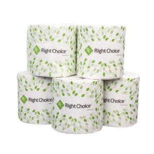 78000015 Right Choice Single Roll Standard Bath Tissue